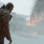 1406532244 joel looks at burning building 150x150 the last of us