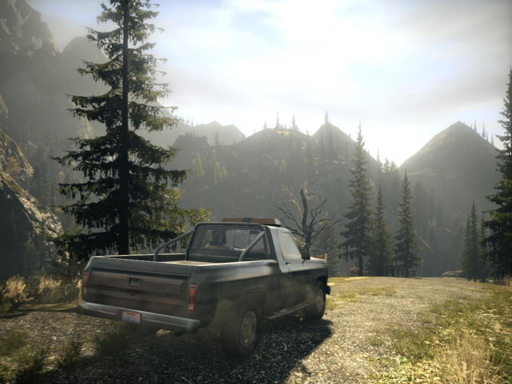 Alan Wake game screenshots of outside by day