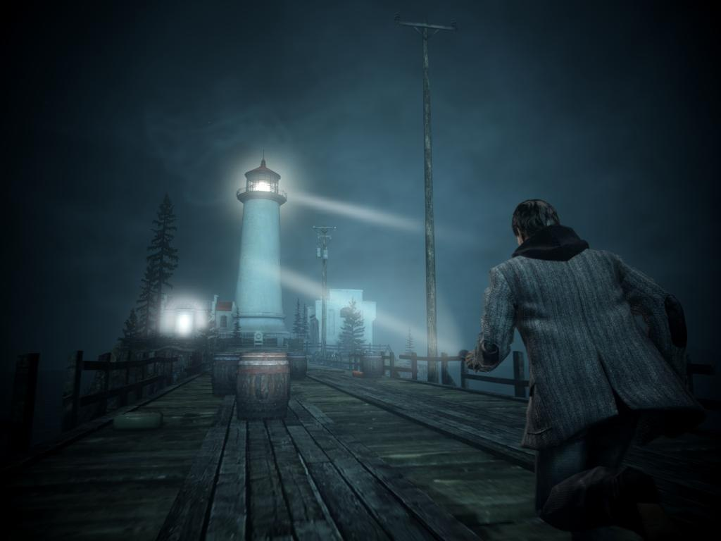 At the lighthouse in Alan Wake survival horror video game