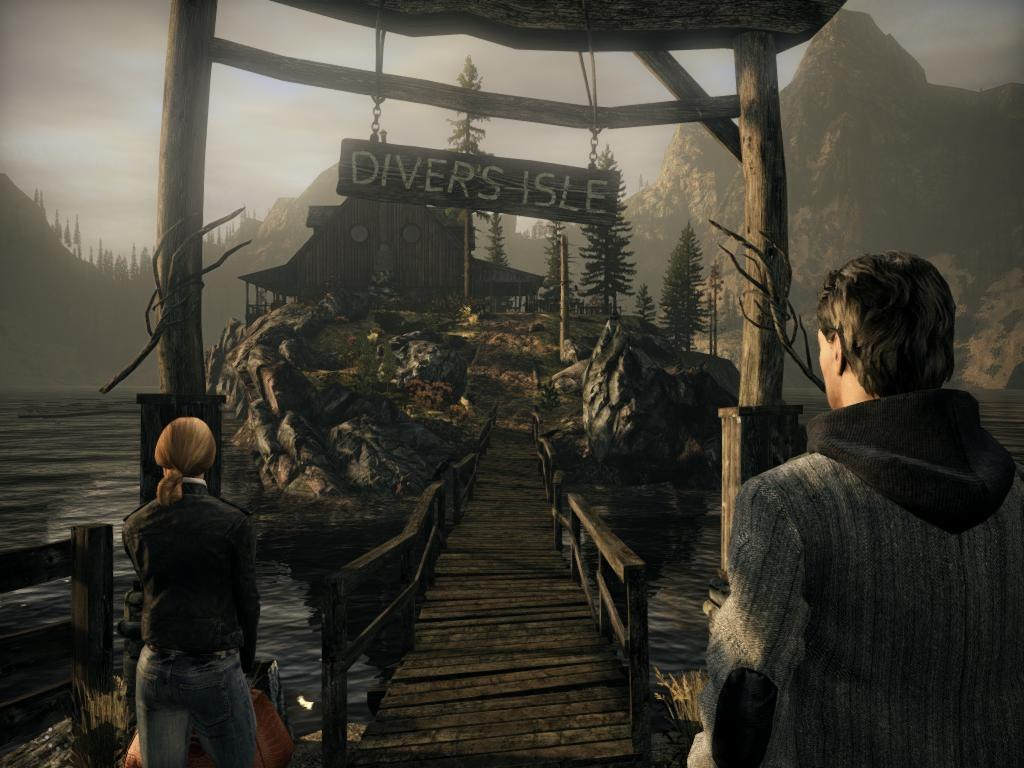 Screenshots from Alan Wake survival horror video game is amazing.